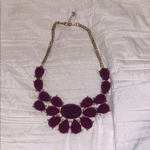 Purple Jewels Statement Necklace